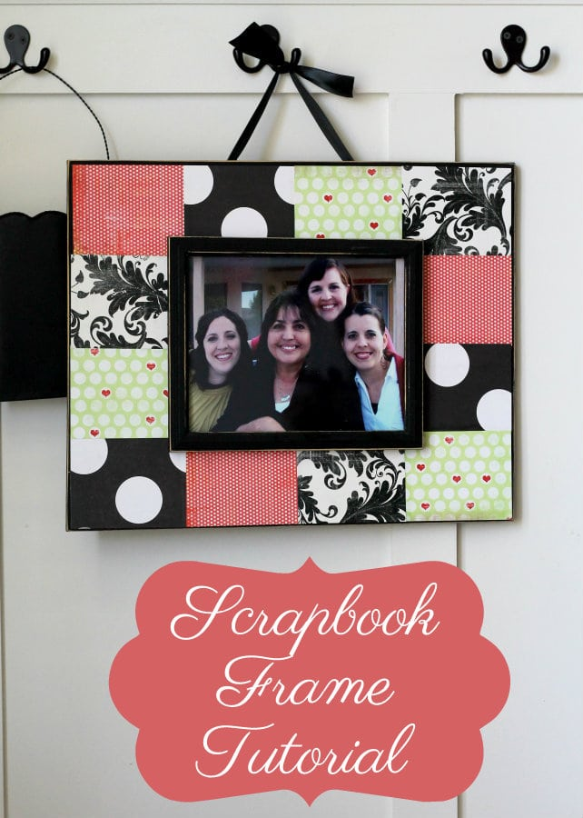 Scrapbook Frame Tutorial. This is an inexpensive but great gift idea and craft idea.