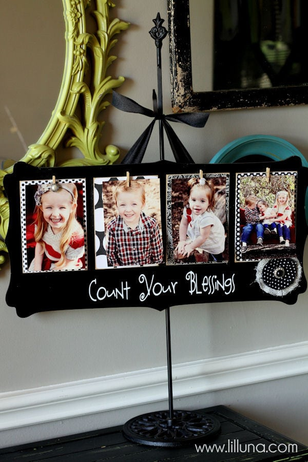 Count Your Blessings Board Tutorial - cute and inexpensive gift idea { lilluna.com }