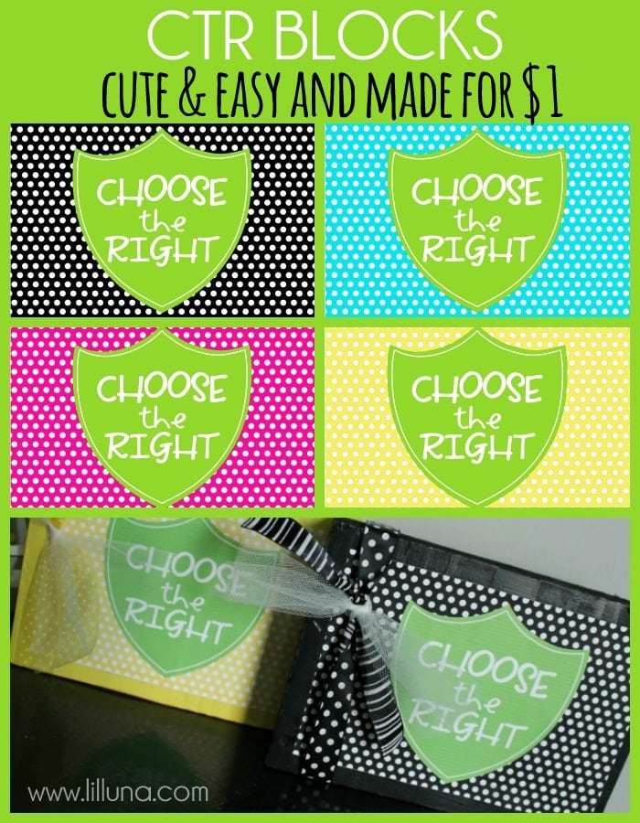 Simple and Cute CTR Blocks made for $1 { lilluna.com } A great gift idea!
