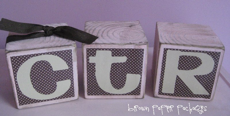 Cute CTR Blocks found on { lilluna.com } Great baptism gift!!