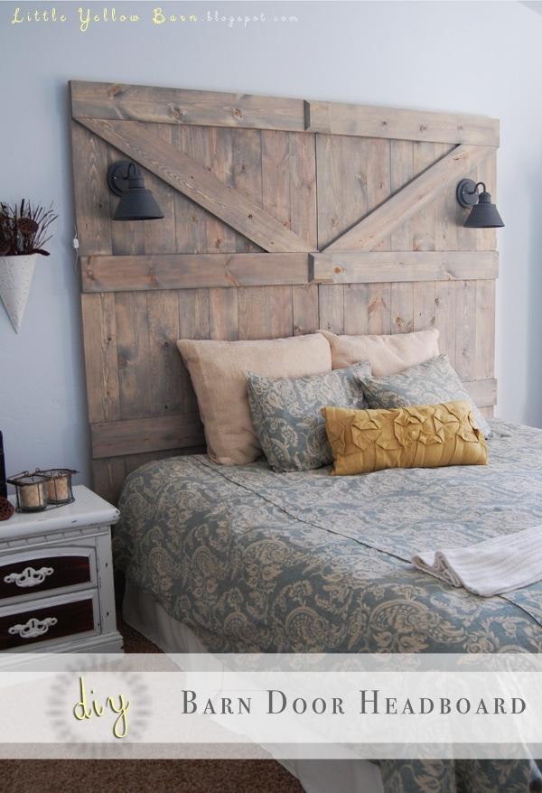 DIY Barn Door Headboard Tutorial on { lilluna.com } Love this idea!! Super cute!