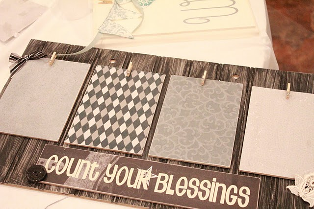 Cute and Inexpensive Count Your Blessings Board - great gift idea! Tutorial on { lilluna.com }