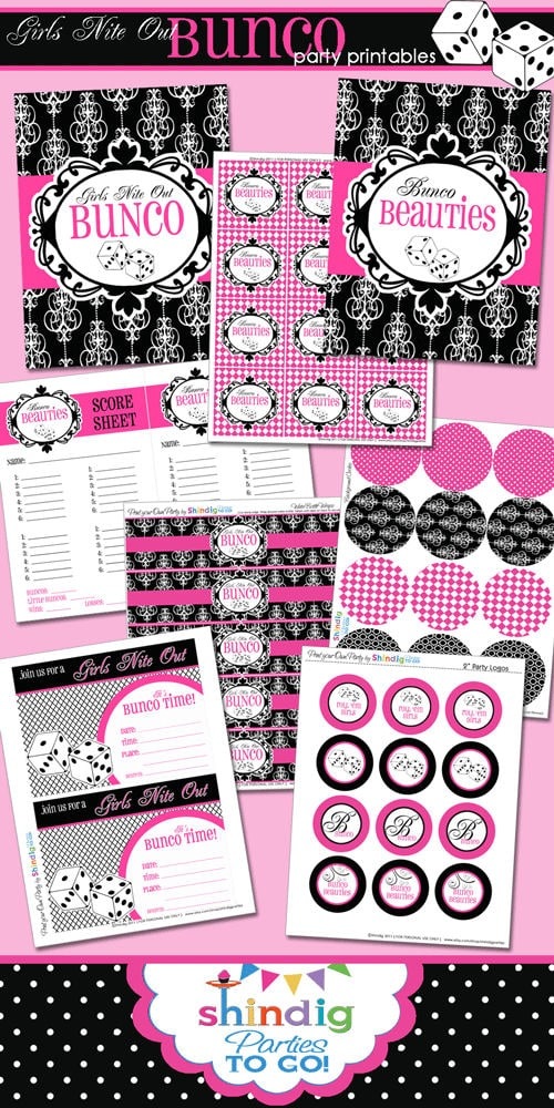 Free Bunco Printables on { lilluna.com } Great game night!!