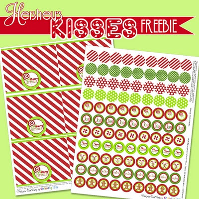 Hershey's Kisses Freebie!! Such a cute gift idea!! Lots of cute printables!