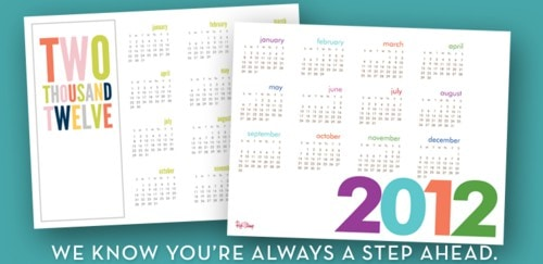 Printable Calendar from Red Stamp!