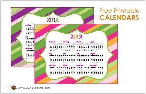 FREE Printable Calendar from Living Locurto