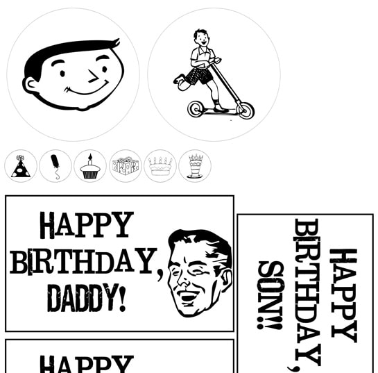 Birthday Boy Pop Box Set - LOVE this idea!! Free prints on { lilluna.com } Fill with the birthday boys fav treats!