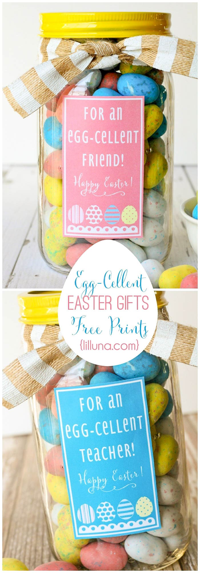 Egg-Cellent Easter Gift Ideas - cute and inexpensive! { lilluna.com } Just fill with your fav Easter treat!