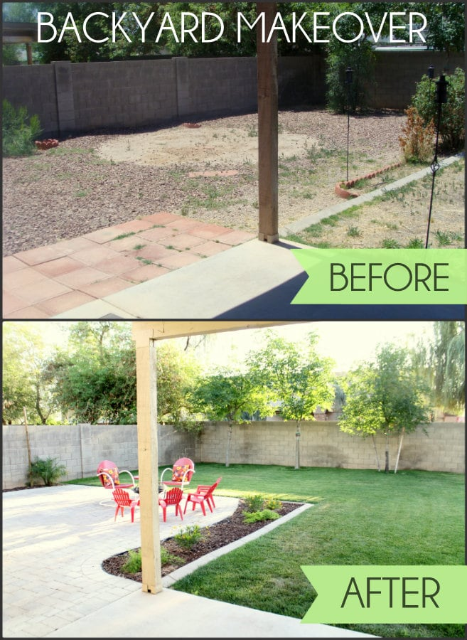 Backyard Makeover - such a huge transformation! Great tips & decor ideas!