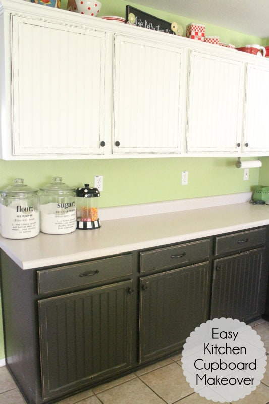 Easy Kitchen Cupboard Makeover Tutorial!! Get the look you want by re-doing your own cupboards!!