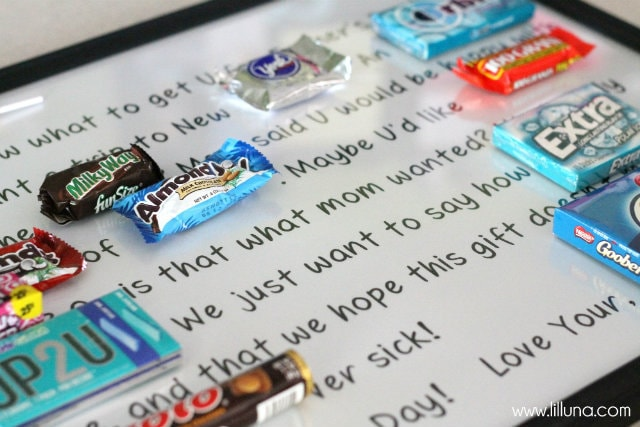 Father's Day Candy Bar Poster - Free print on { lilluna.com } All the goodies father's love!!