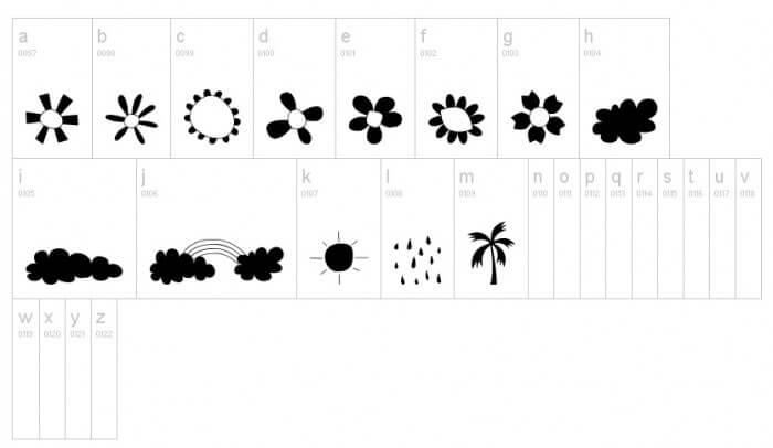 Favorite Free Dingbats Part 1! Lots of cute symbols!!