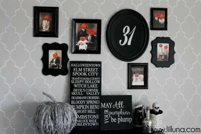 Halloween Gallery Wall! Great prints and ideas for the perfect Halloween display!