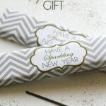 New Year's Sparklers Gift!! Great way to wrap those sparklers!! Give as a gift!