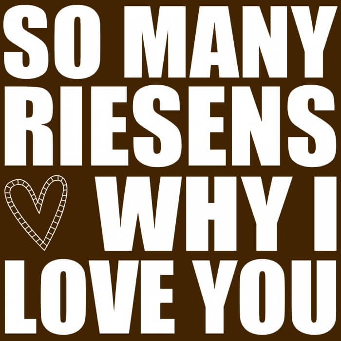Valenyine's Gift Idea (BROWN) - So Many RIESENS why I LOVE you Jar. Free prints on { lilluna