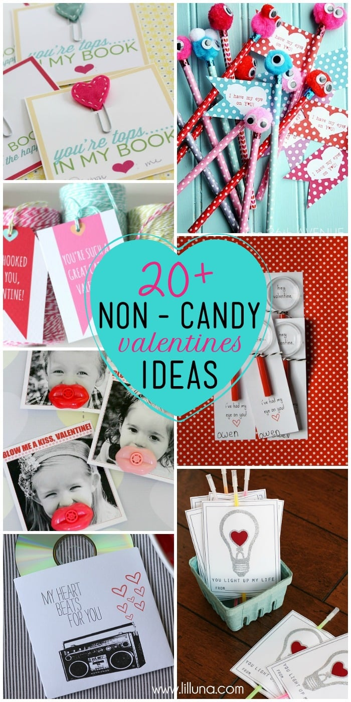 20+ Non-Candy Valentine's Ideas on { lilluna.com } So many cute ideas that are easy to make!