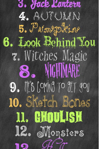 Favorite Free Halloween Fonts on { lilluna.com } Use for so many things!