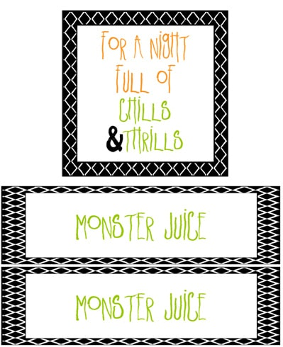 For A Night Full of Chills & Thrills & Monster Juice Print