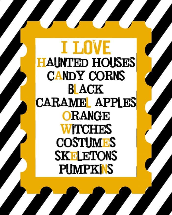I HEART the Holidays Printables {Halloween and Christmas}. - FREE to download and print for framed holiday decor! 6 different designs! { lilluna.com }