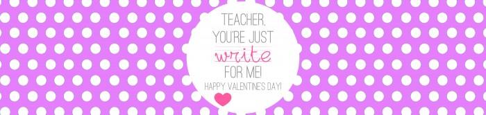 Valentine's - Teacher Gift - Write on - PURPLE