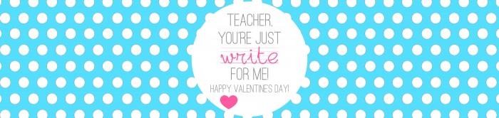 Valentine's - Teacher Gift - Write on - TURQUOISE