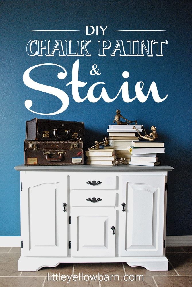 DIY Chalk Paint and Stain Tutorial on { lilluna.com } Great tips to get the perfect look!