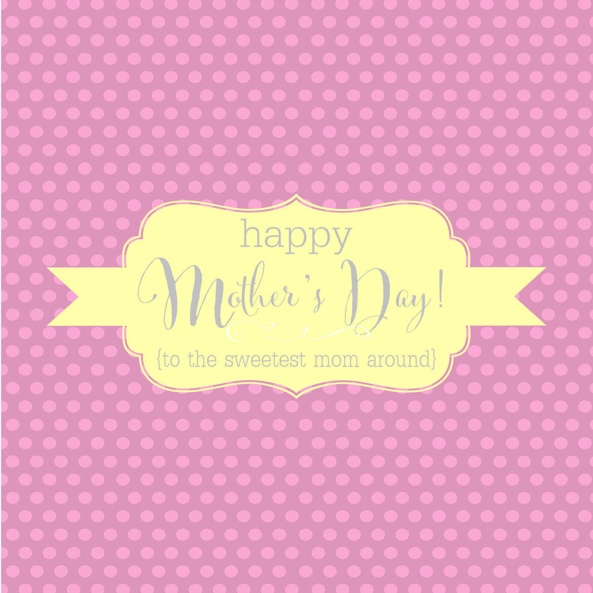Happy Mothers Day Candy Bar Wrappers - LIGHT PINK