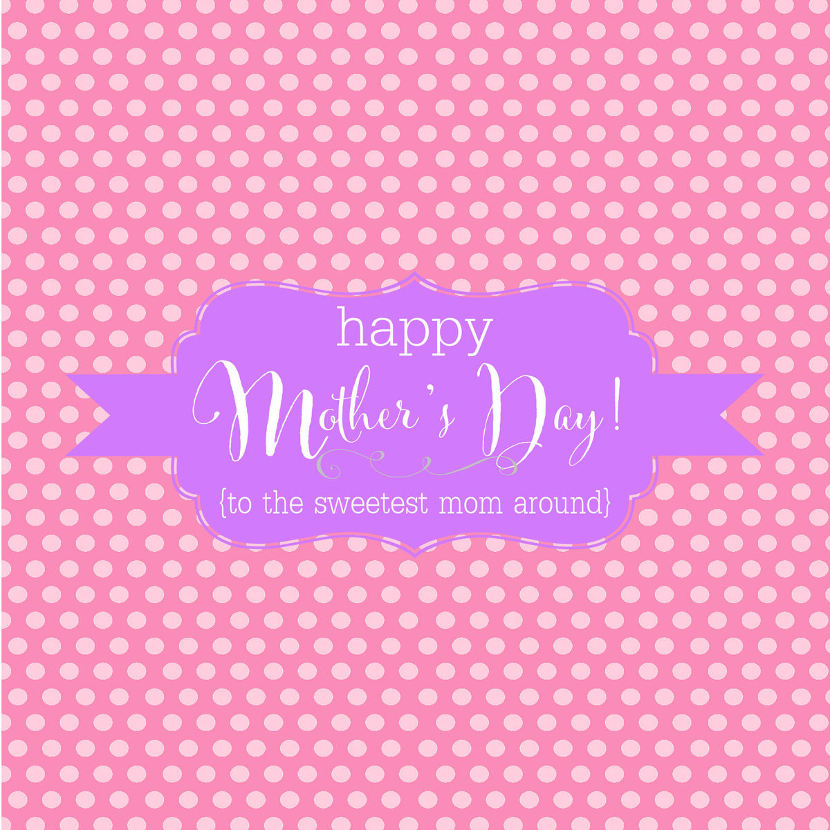 Happy Mothers Day Candy Bar Wrappers - PINK