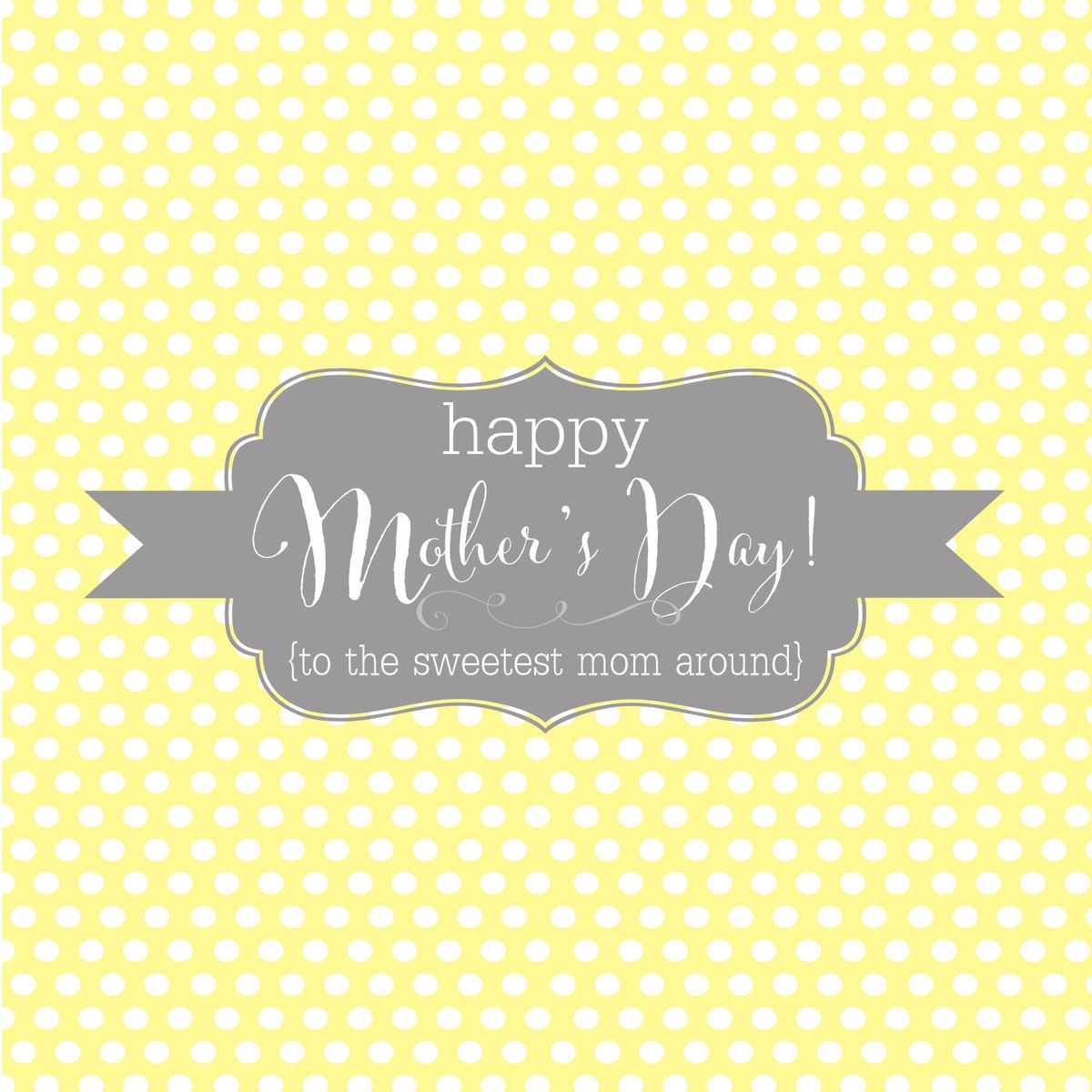 Happy Mothers Day Candy Bar Wrappers - YELLOW