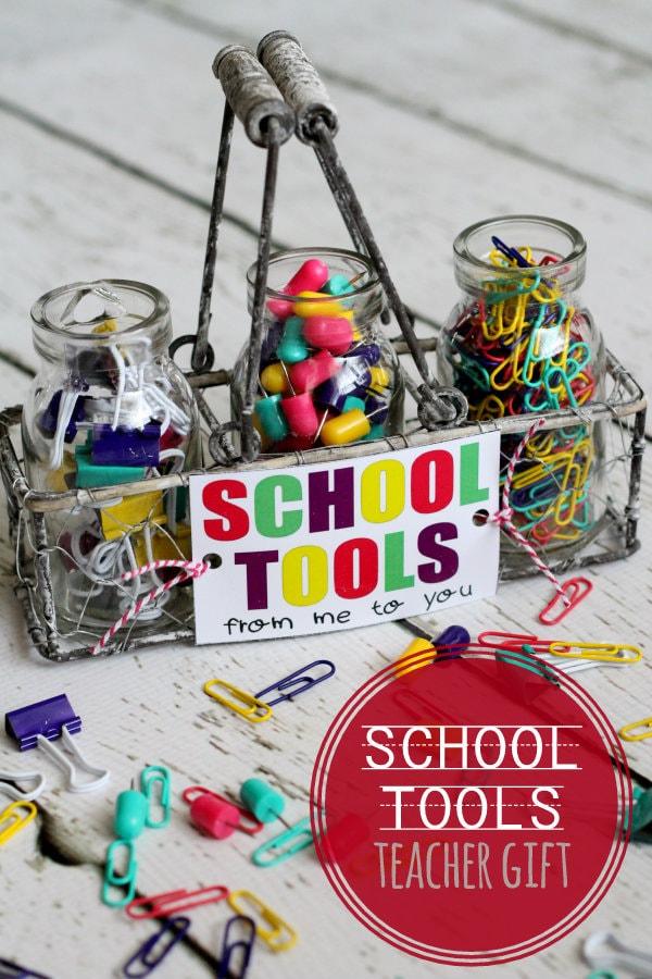 ADORABLE School Tools Set and Free Print perfect for teacher { lilluna.com } Great items that a teacher always needs!