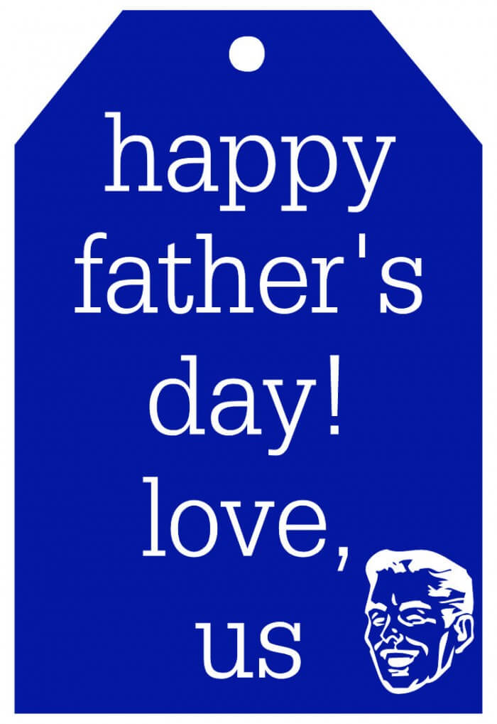 Happy Fathers Day Tag-blue
