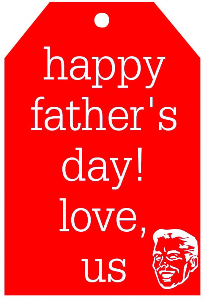 Happy Fathers Day Tag-red