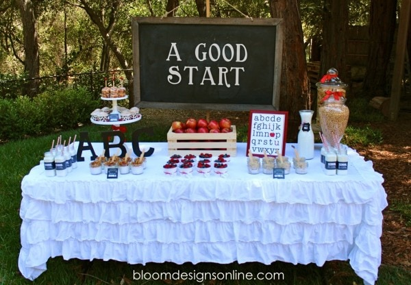 Back to School Breakfast Party with free prints. SO cute! { lilluna.com } Lots of cute ideas and recipes for that first day of school!
