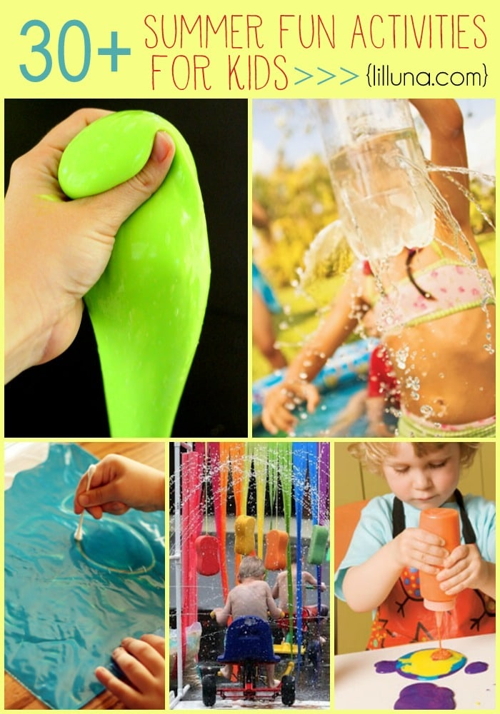 A collection of 30+ Summer Fun Activities for Kids!! Lots of great ideas to help keep those kids entertained!!