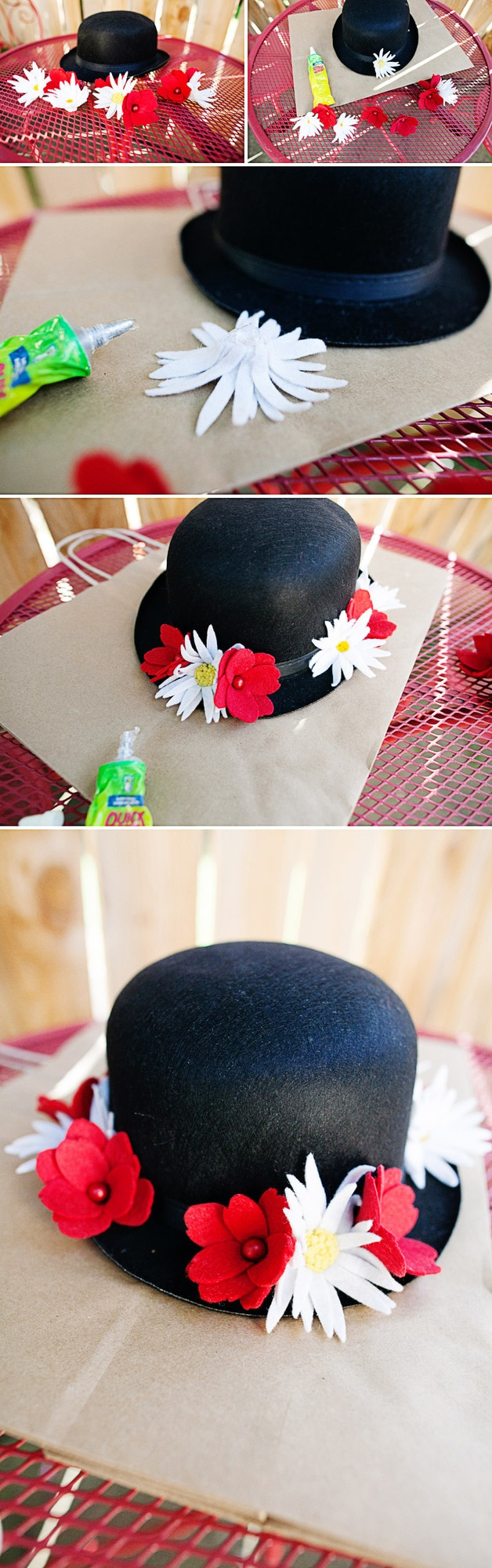 DIY Mary Popping Hat tutorial and adorable photo shoot! { lilluna.com }