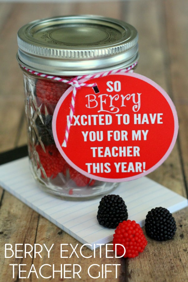 BERRY excited Teacher Gift with free prints { lilluna.com } Such a cute and simple gift!