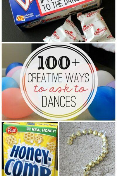 100+ Creative Ways to ask to Dances - a MUST-SEE list on { lilluna.com } So many creative ideas!!