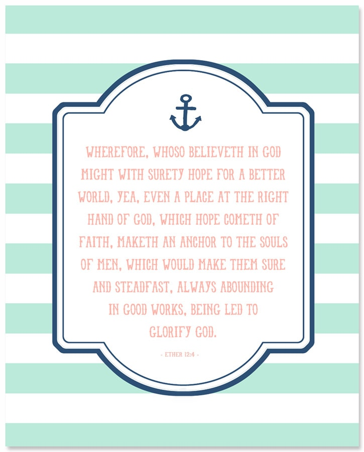 Whoso Believeth in God print. An inspiring quote to use as a decor or give as a gift.