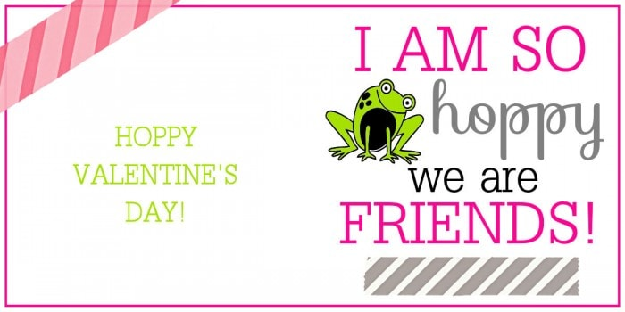 Valentines Hoppy We Are Friends Print