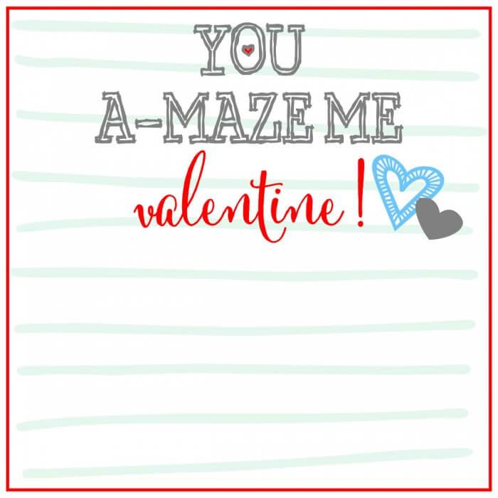 Valentines You AMAZE Me Print