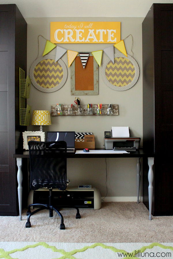 Craft Room Organization Ideas { lilluna.com } Great ideas to help inspire your own organization!!