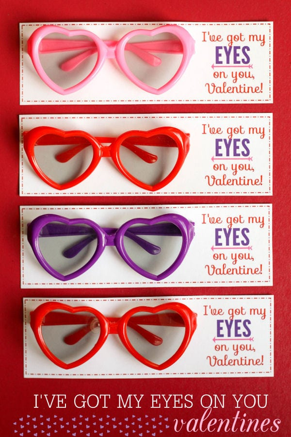 I've got my EYES on you, Valentine!! Free prints on { lilluna.com } A cute and fun treat!!