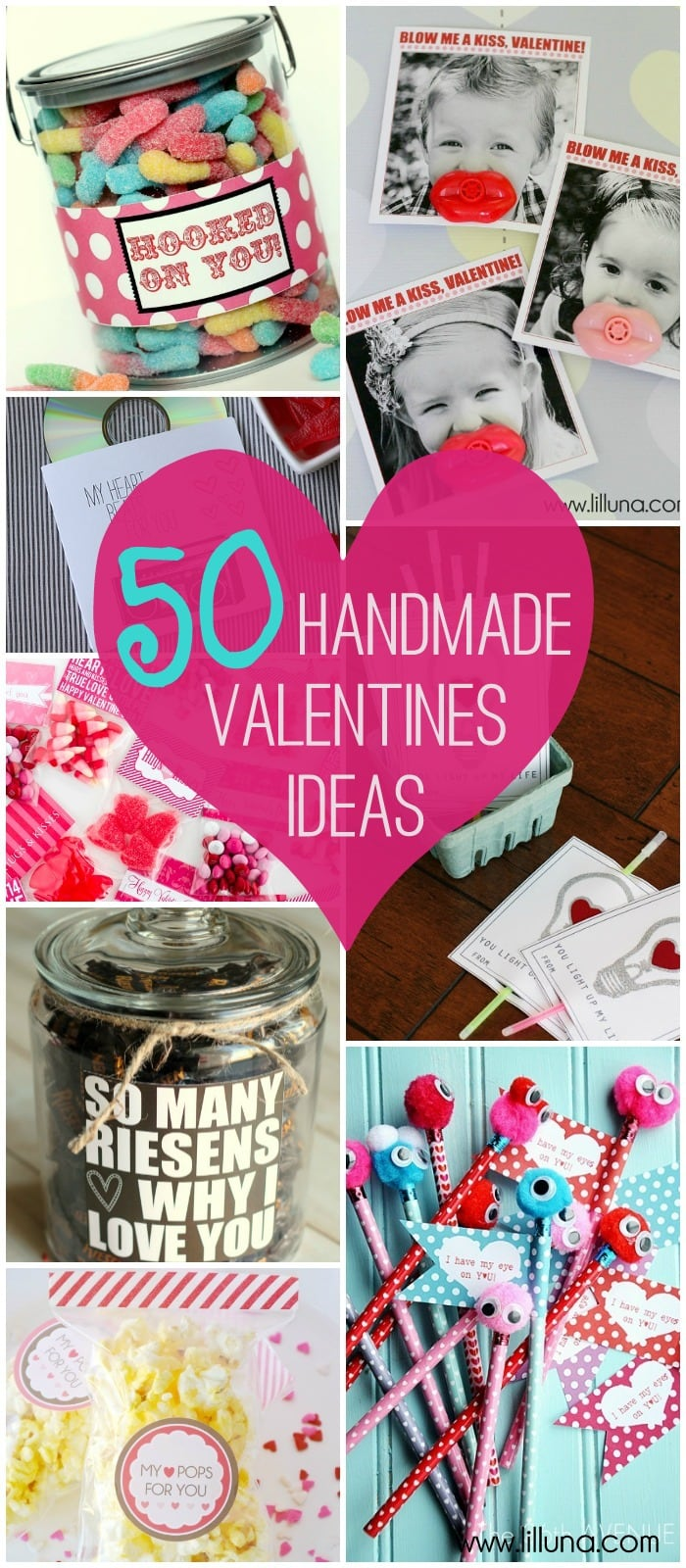 50+ Great Valentine's Ideas on { lilluna.com } A great collection of cute ideas for your Valentine's!
