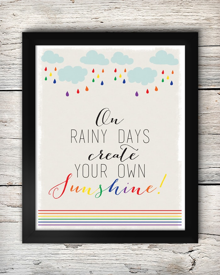 FREE Create Your Own Sunshine Print on { lilluna.com } SO cute & colorful!! Use as decor or give as a gift!!