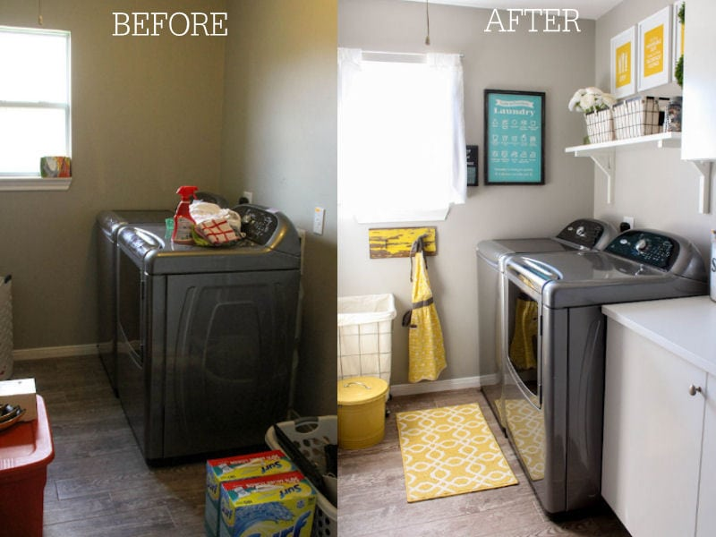 Laundry Room Makeover - Before and After
