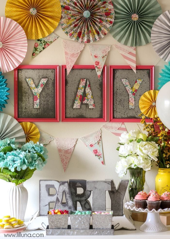 Rustic Floral Birthday Party on { lilluna.com } So many cute ideas for your next floral birthday party!!