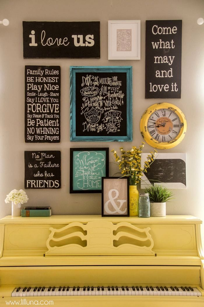 Beautiful Quotes and Sayings gallery wall! { lilluna.com }