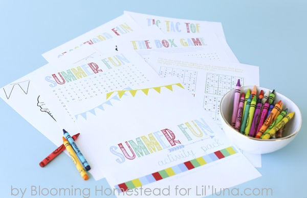 Summer Fun Activity Pack - 10 FUN activity pages for kids. Get the free prints on { lilluna.com }