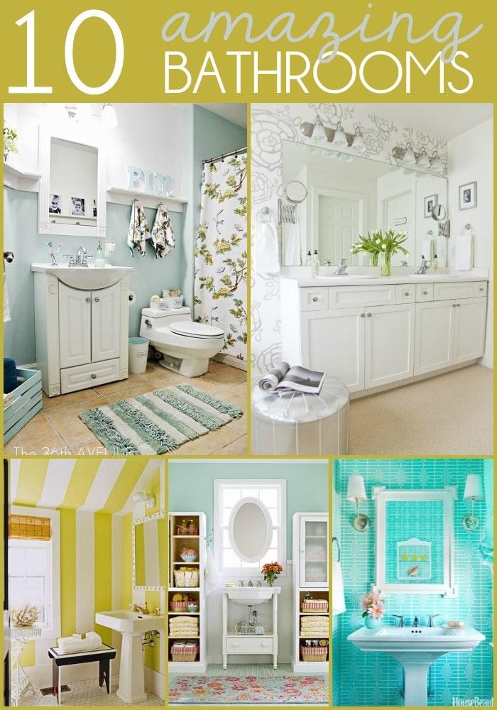 10 Amazing Bathrooms on { lilluna.com } Beautiful ideas to help inspire your own bathroom decor!