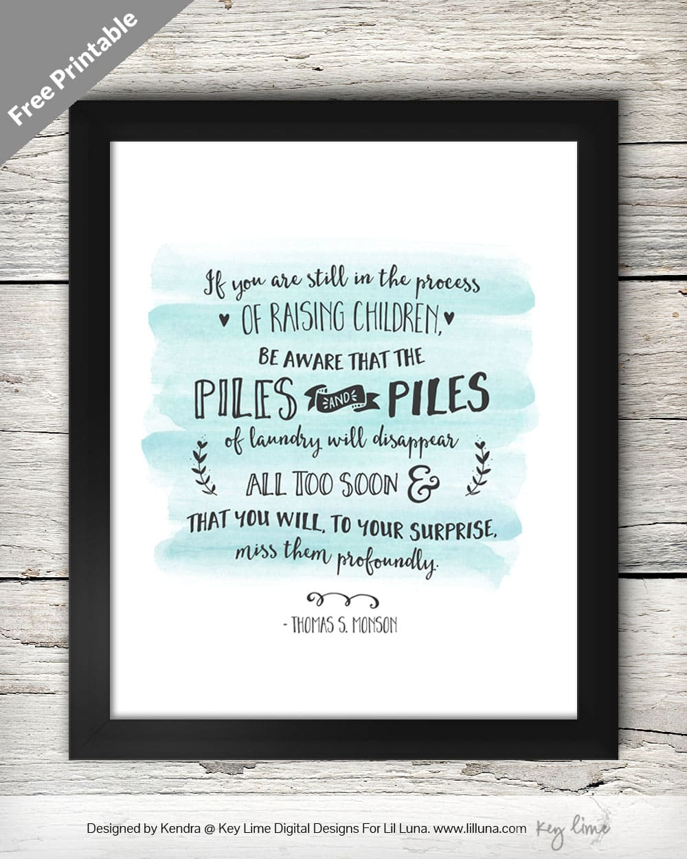 Laundry Room FREE Printable. Love this quote!! Great for decor in your laundry room.